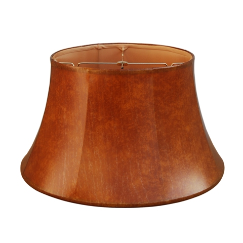 Junior Floor Lamp Shade--Vinyl Faux Leather--Brun Orange--VCF