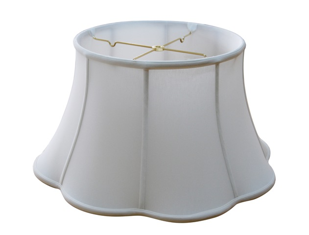 Out Scallop floor lamp shade--EBSC--Off White