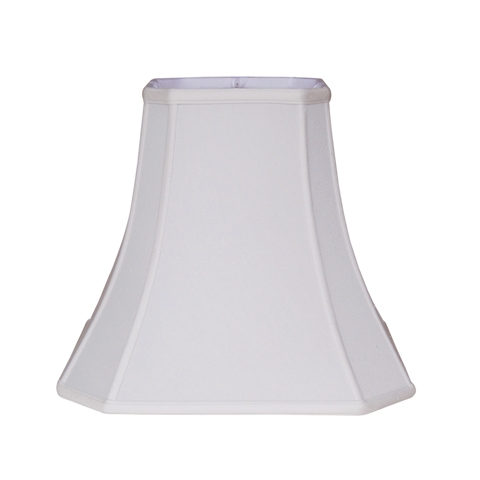 Cut Corner Square Bell--Supreme Satin- White--MW