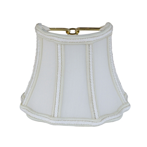 Half Fancy Octagon Sconce Shade--QSH/C--Egg Shell