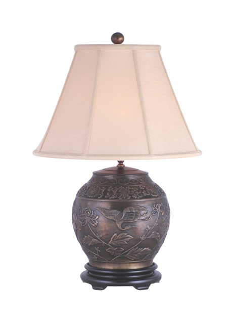 Bronze/Brass & Jade Lamps