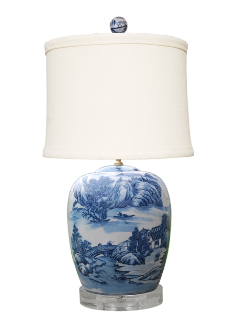 Blue&white Porcelain Lamps